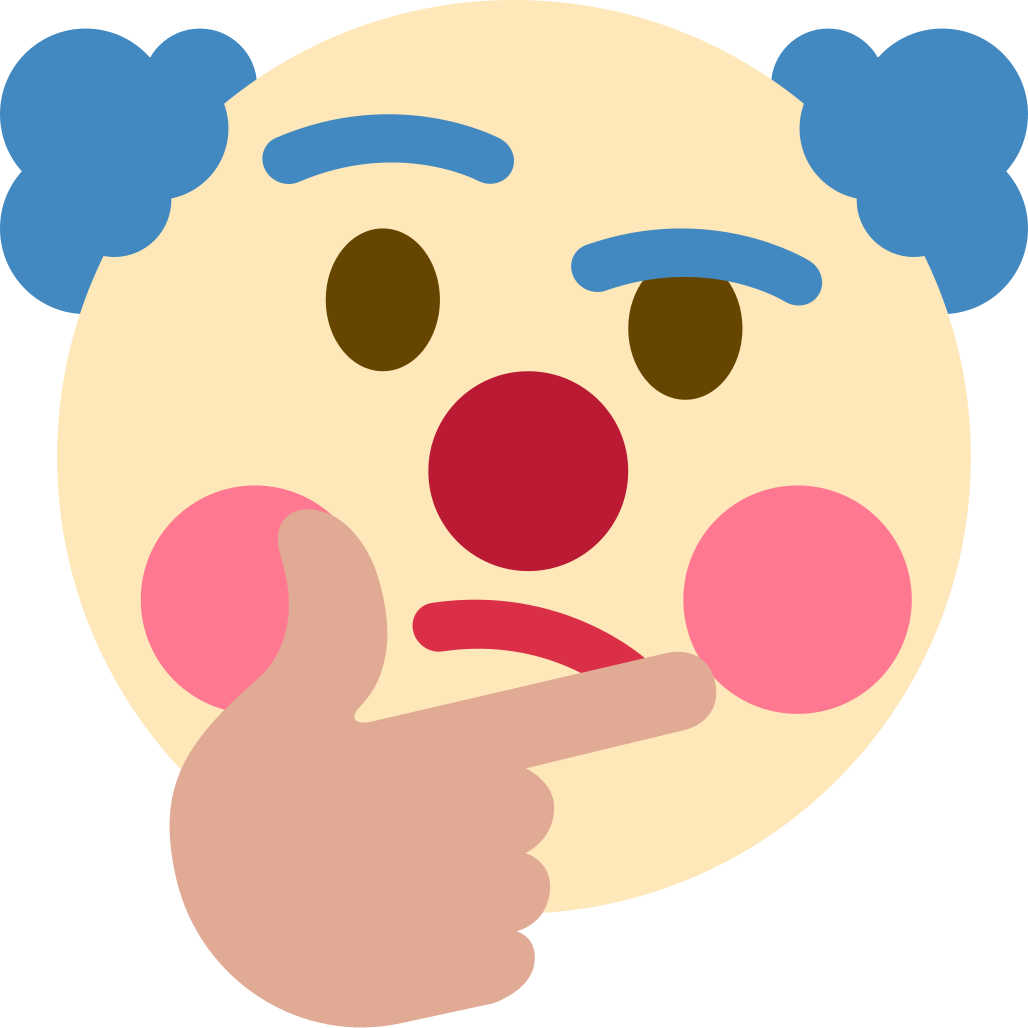 clown_thinking Discord Emoji