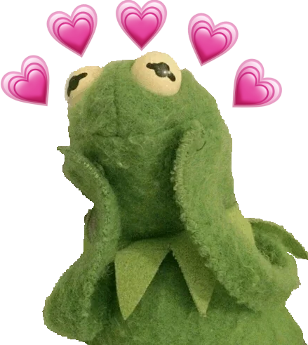 Kermit_with_hearts_around_him Discord Emoji